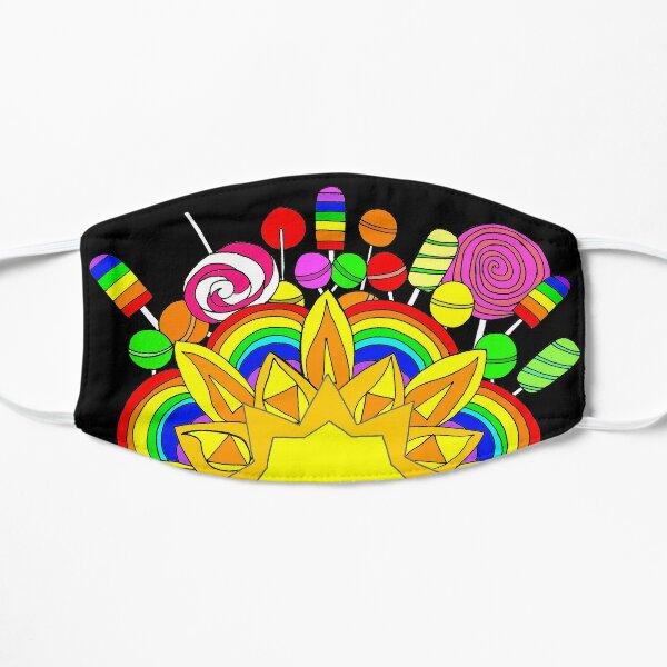 Sunshine, Lollipops and Rainbows  Flat Mask