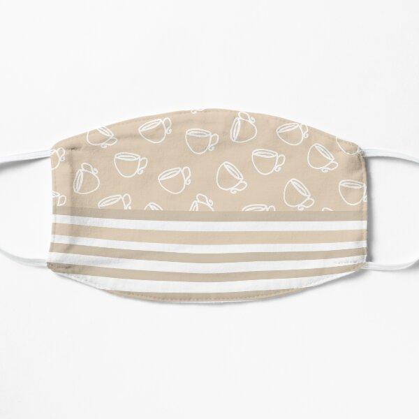 Tea Time + Taupe Stripe Mask