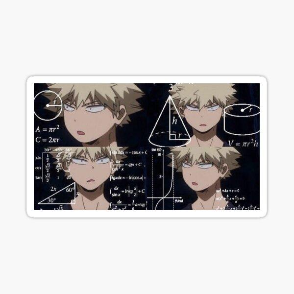 Mème d'anime Bakugo confus Sticker