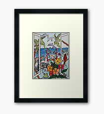 Opening the Window to my World..... Framed Print