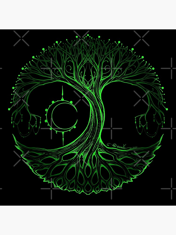 Dreamie's Tree of Life Electric Green by dreamie09