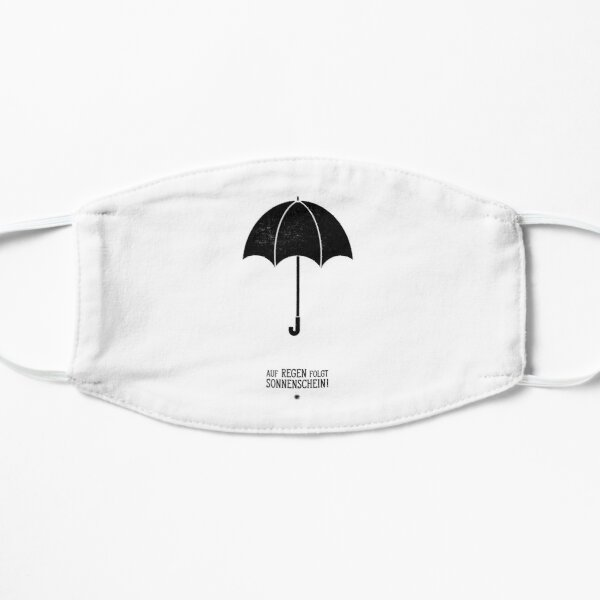 Regenschirm - Auf Regen foglt Sonnenschein! Maske
