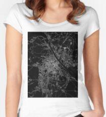 Vienna map Austria Women's Fitted Scoop T-Shirt