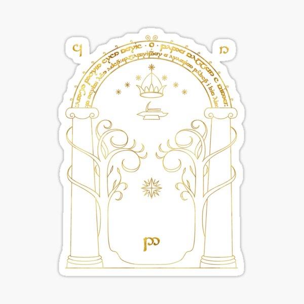 Door to Moria - Gold Sticker