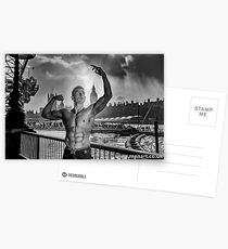 Dramatic Sky with Hot Model on the Thames in London  Postcards
