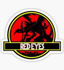 Red Eyes Black Jurassic Dragon Sticker