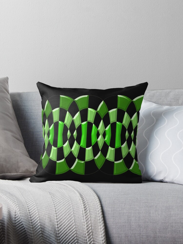 Beautiful Cushions/ Check Green Thing by ozcushionstoo
