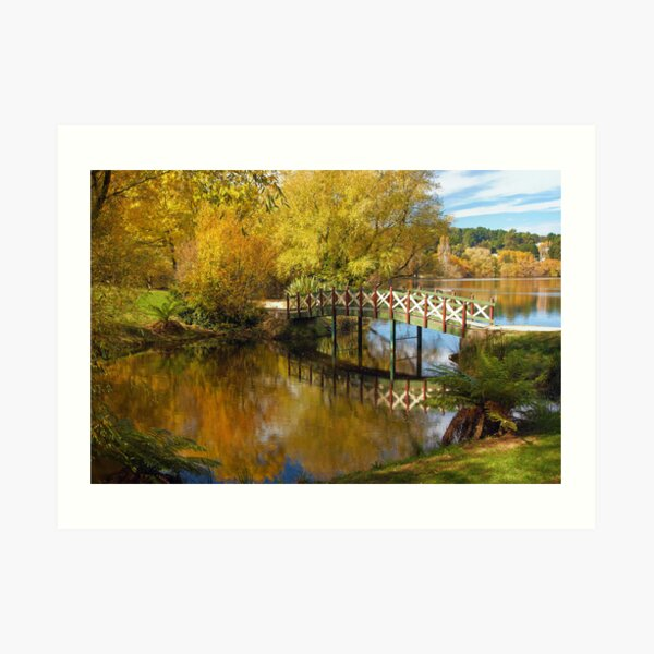 Little Bridge at Lake Daylesford Art Print