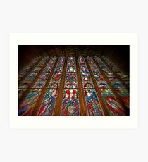 The East Window (Carlisle Cathedral) Art Print