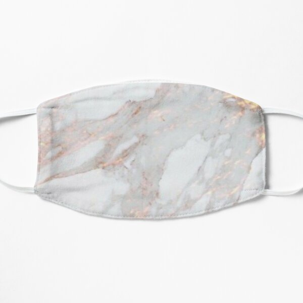 Iridescent Rose Gold Marble Mask Mask