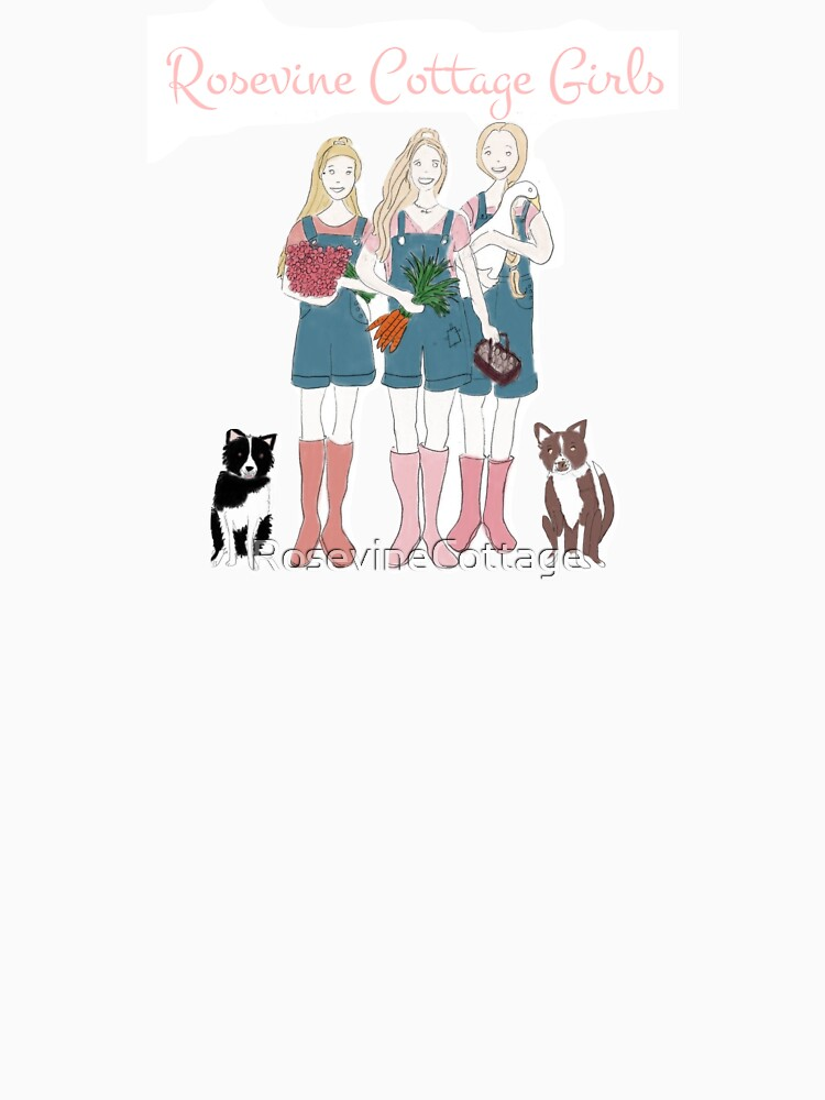 Rosevine Cottage Girls and Border Collies by RosevineCottage