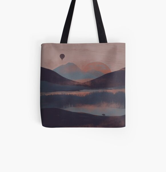 Adrift in the Mountains... All Over Print Tote Bag
