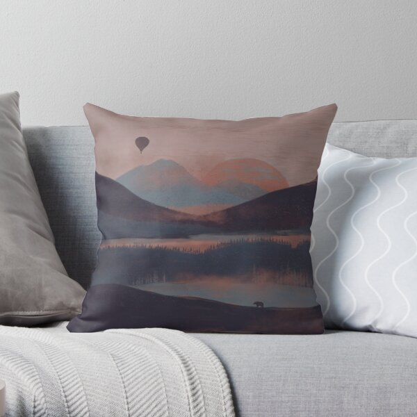 Adrift in the Mountains... Throw Pillow