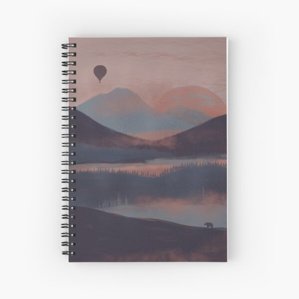 Adrift in the Mountains... Spiral Notebook