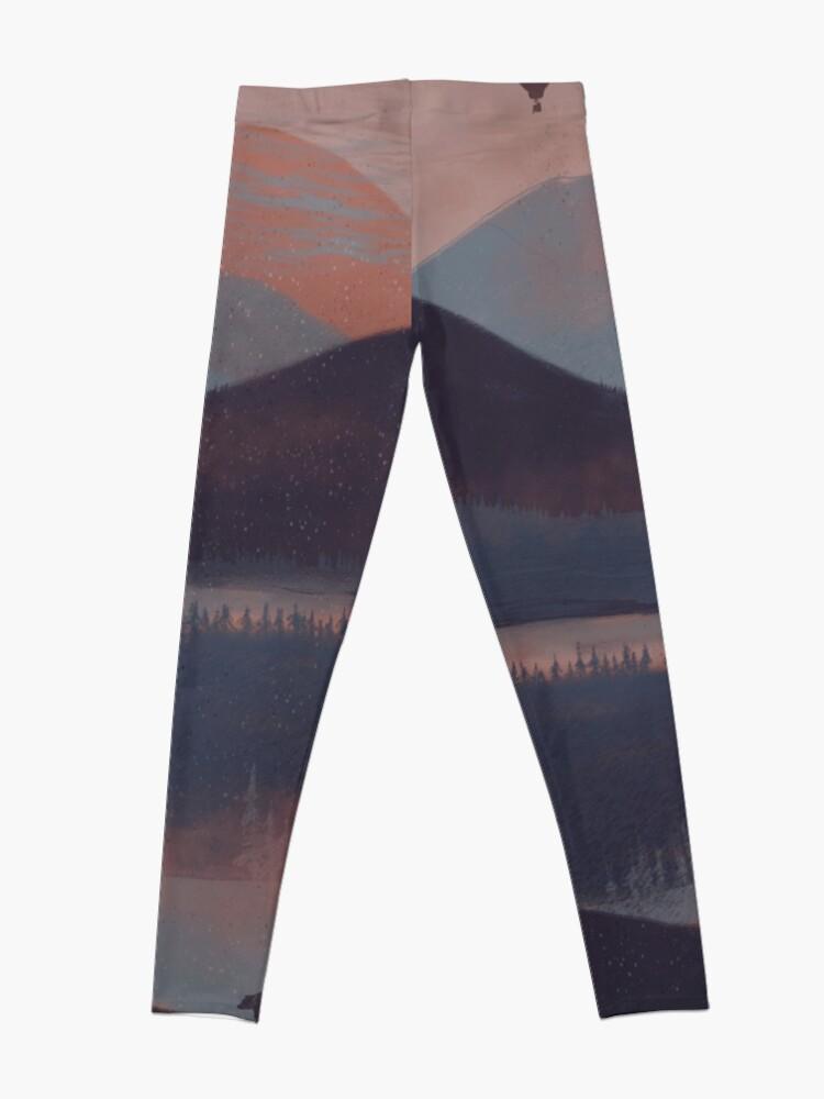 Alternate view of Adrift in the Mountains... Leggings