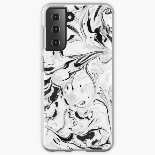 Black and White Marble Samsung Galaxy Soft Case