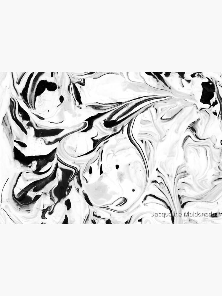 Black and White Marble by mjmstudio