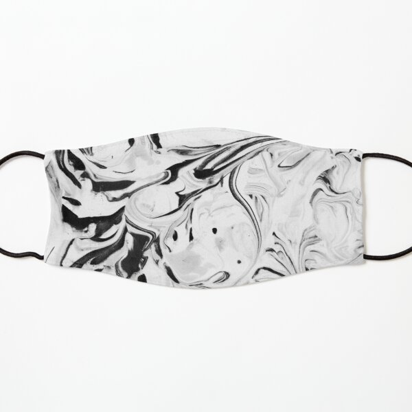 Black and White Marble Kids Mask
