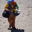 Sad Clown at the Beach - Payaso triste en la Playa by PtoVallartaMex
