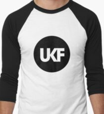 UKF-Black and White Men's Baseball ¾ T-Shirt