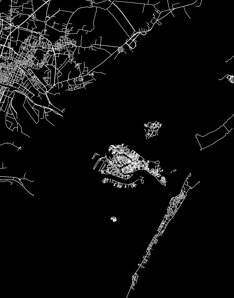 Venice map italia by linelinelines