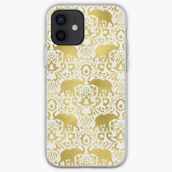Elephant DamaskGold iPhone Soft Case