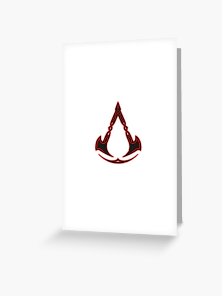 Assassins Creed Valhalla Symbol Greeting Card By Miroteiempire