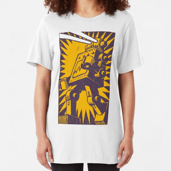 Purple Robot Slim Fit T-Shirt
