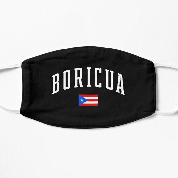 Boricua Puerto Rico Bandera de Puerto Rico Mascarilla plana