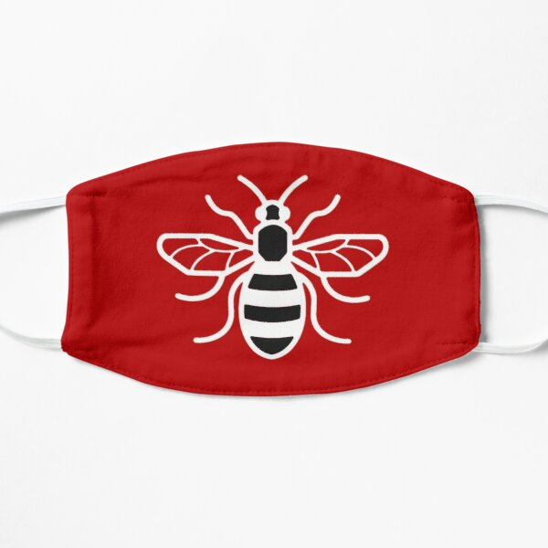 Manchester Red Bee Flat Mask