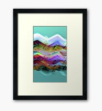 Ocean-Race_21 Framed Print