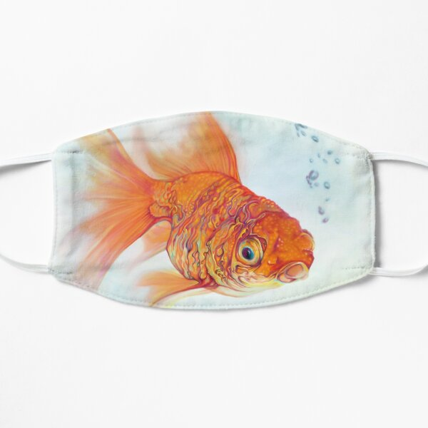 Tattoo and Watercolor Goldfish Flat Mask