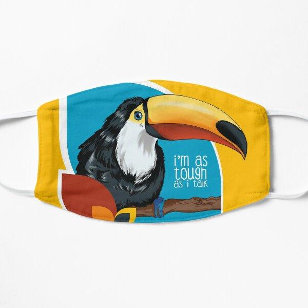 Der Tukan lässt sich den Schnabel nicht verbieten Maske