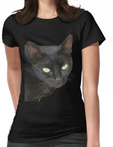 Black Cat Isolated on Black Background T-Shirt