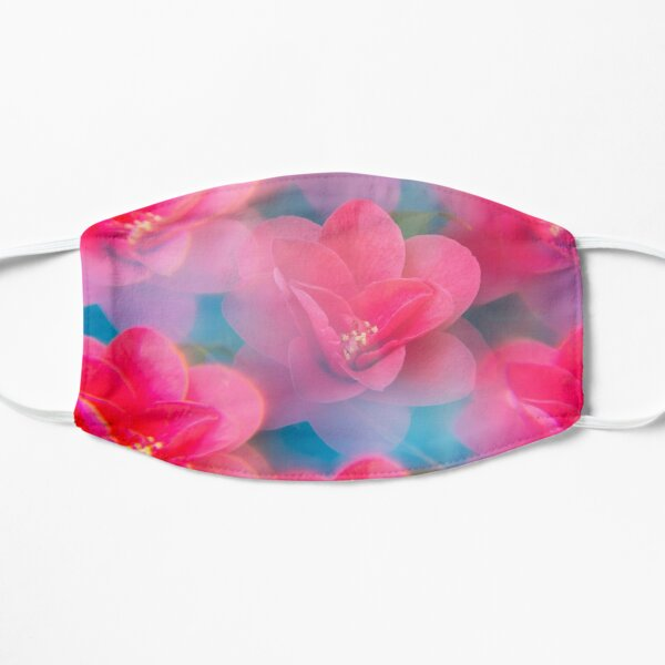 Pink camellia flowers  Mask