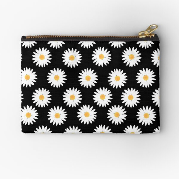 Daisy black pattern Zipper Pouch