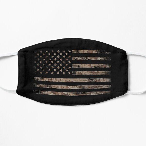 Amerikanische Flagge der USA mit Wüstentarn Maske