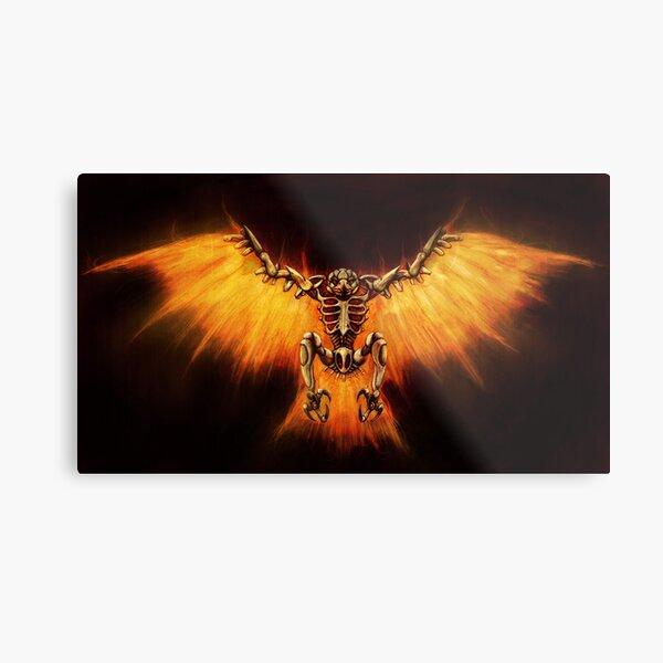 Mecha-Phoenix Metal Print