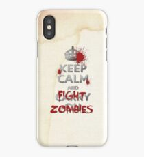 FIGHT ZOMBIES! iPhone Case/Skin