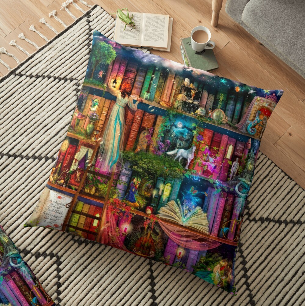 Whimsy Trove - Treasure Hunt Floor Pillow