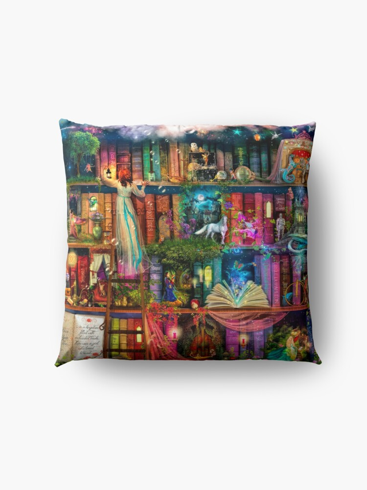 Alternate view of Whimsy Trove - Treasure Hunt Floor Pillow