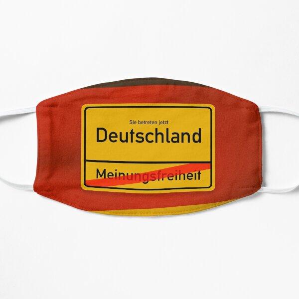 Deutschland - Meinungsfreiheit  Flache Maske
