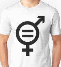 Equality - Merged Male and Female Gender Symbols Slim Fit T-Shirt