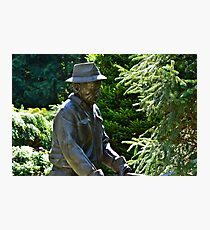 The Gardener in Bronze... Photographic Print