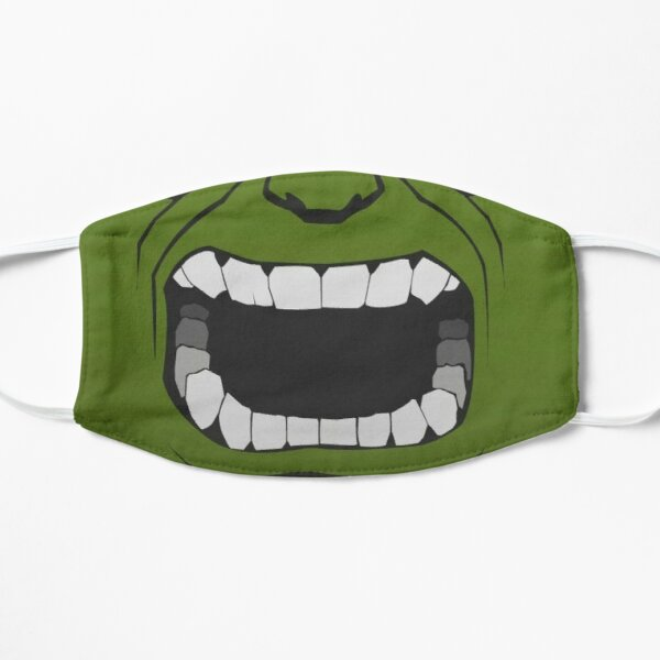 Big green comic book superhero facemask  Mask
