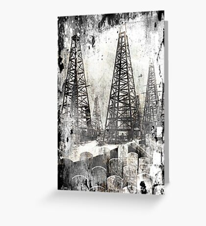 The True Price Of Oil Greeting Card