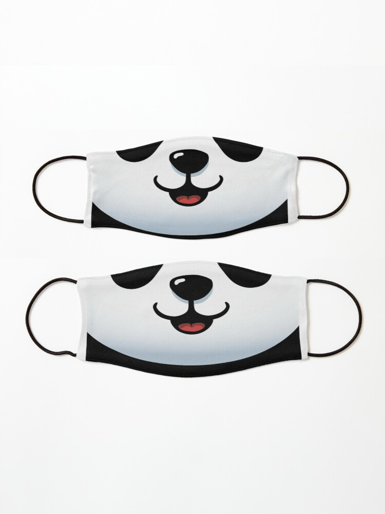 Alternate view of Pandamic mask - Furry Face mask - Funny Panda Mask