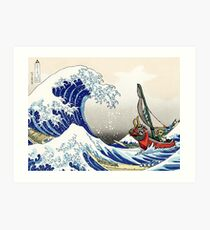 Legend of Zelda Great Wave Windwaker Art Print