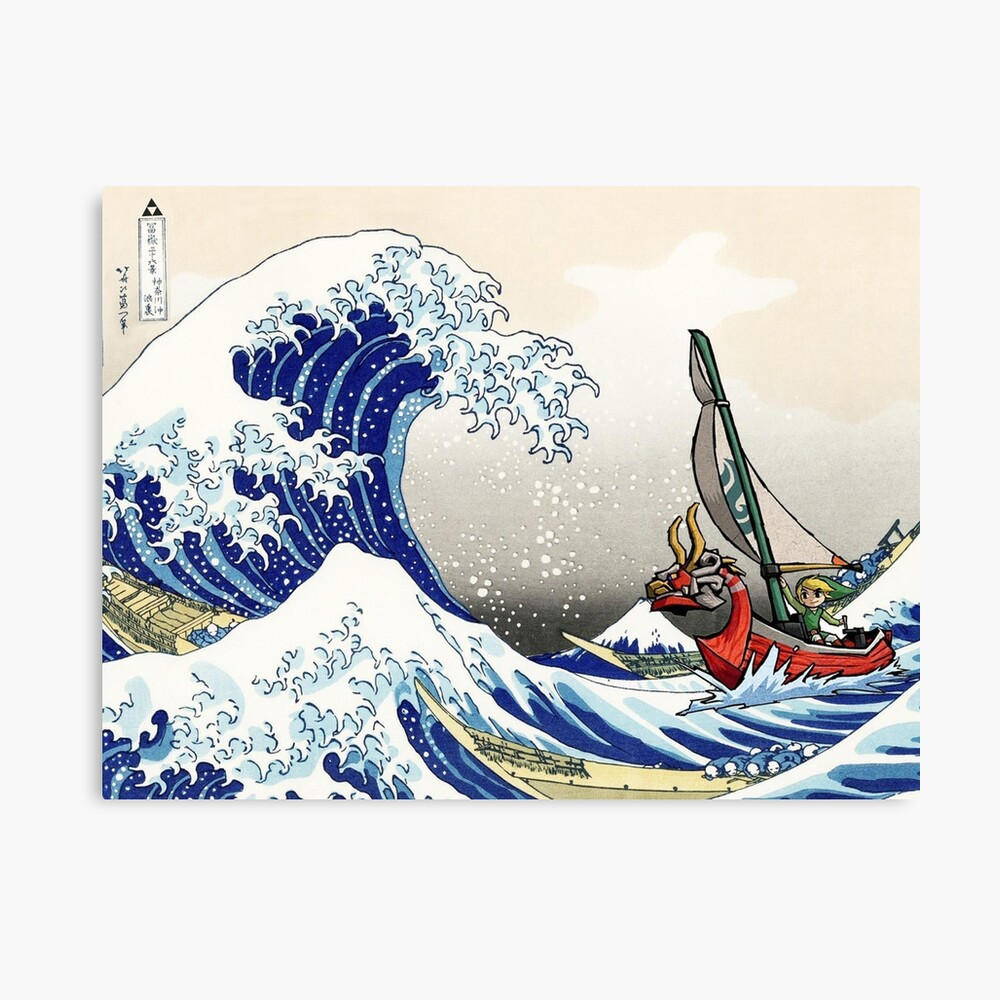 Legende von Zelda Great Wave Windwaker Leinwanddruck