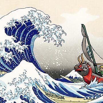 Legend of Zelda Great Wave Windwaker by knollgilbert